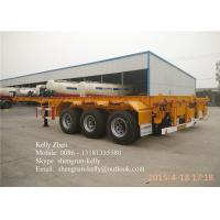 China Shengrun 3 axles Container Chassis / 40FT Skeleton Semi Trailer wholesale