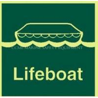 China Marine Luminescent Signs Life boat signs wholesale