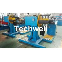 China Manual / Passive Type Uncoiler Machine With Rotary Double Head Mandrel For Supporting The Coil Strip wholesale