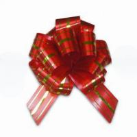 Quality Chocolate Boxes Packing Bright Color Wrapping Bows With Solid Printed Ribbon for sale