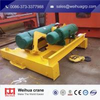 China Wire Rope Electric Hoist Trolley For Double Beam Crane With Remote Control wholesale