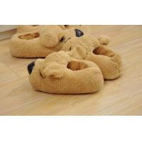 China Home / indoor / hotel 35-45 children Custom Dog Slipper OF coral plush wholesale