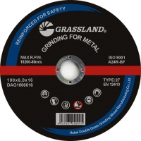 Buy cheap GRASSLAND 100x6x16 mm grinding wheel for Metal from wholesalers