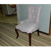 China Purple Wooden Restaurant Furniture  Modern Violet Dining Chair with Tufted Back wholesale