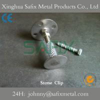 Marble Wall Clips : Stone clips anchor fixings wall mounting of