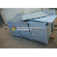 China City Road Floor Forge Walkway Steel Grating , Metal Bar Grating Anti - Theft Design wholesale
