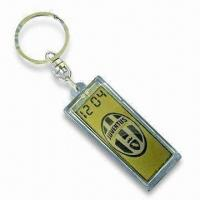 China Waterproof Solar-powered Keychain with Clock, Available in Customized Logos wholesale