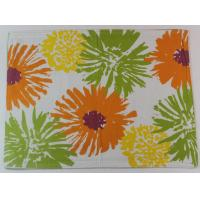 China 2017 Colorful Flower Printed 250gsm Canvas Cotton Printed Dining Table Mats wholesale