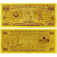 China United of America 1 Million Dollar Bill 24K Gold Foil Banknote for Value Collection wholesale
