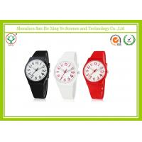 Quality Japan Movement 22MM Silicone Strap Watches With Stainless Steel Buckle for sale