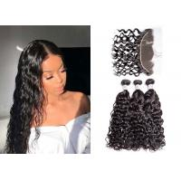 China Strong Weft 3 Water Wave Hair Bundles With Frontal 8A Grade No Bad Smell wholesale