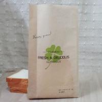 China Food Grade Custom Kraft Paper Bag Packaging Stand Up For Bread / Cake wholesale