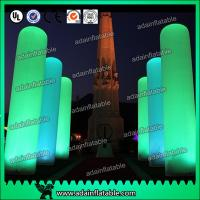 China 3M Inflatable Pillar Entrance Decoration Lighting Inflatable Column For Wedding wholesale