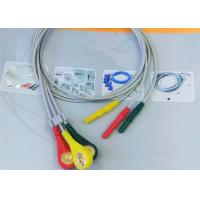 Quality Patient ECG Monitor Cable 3 Color Alligator clip electrodes Needle Electrode for sale