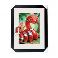 China Amazing 5D 30*40CM Lenticular Picture With PS Frame / 3D Animal Images wholesale