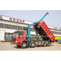 China LHD 371HP 8×4 Tipper Truck Mounted Crane XCMG12 Tons For Traffic Accidents wholesale