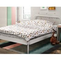 China Bedroom Single Metal Bed Frame , Dormitory Cold Rolled Steel Frame Easy Assembly on sale