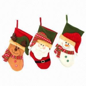 China Christmas Stockings, Made of 19-inch High Fleece wholesale
