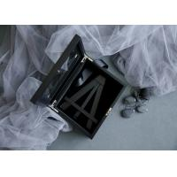 China Customized Wood Gift Packaging Boxes Black Color With Lacquer For Bamboo Easel wholesale