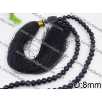 China Black Beaded Chain Necklaces For Women Powell Jewelry Wholesale 2570002 wholesale