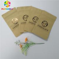 China Three Side Sealed Kraft Customized Paper Bags Foil Lined Organic Roasted Coffee Packing wholesale