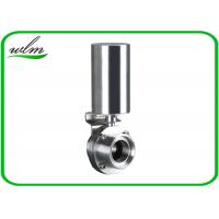 China Pneumatic Male Threaded Sanitary Butterfly Valve With Stainless Steel Actuator on sale