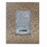 China Glitter Photo Frame, Made of Wood and Glitter PVC, Available in Various Sizes and Colors wholesale
