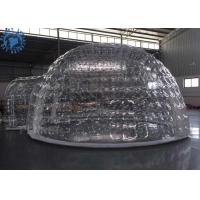 China Outdoor Transparent Inflatable Dome Tent For Mobile Hotel / Clear Igloo Tent wholesale