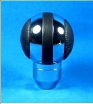 China Black + Sliver Aluminum Racing Auto Gear Knob For Man , Round Shift Knob wholesale