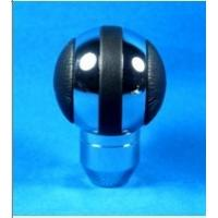 China Black + Sliver Aluminum Racing Auto Gear Knob For Man , Round Shift Knob wholesale