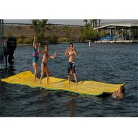 China 550*18cm Amusement Floating Water Mat Giant Floating Mat 20kg on sale