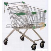 China Unfolding Colored Supermarket Shopping Trolley Baskets Steel Material wholesale