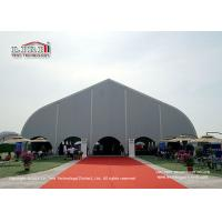 Buy cheap Aluminum Frame Outdoor Exhibition Marquee WIth Silver PVC Cover / Curved Tent from wholesalers