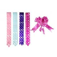 China 18mm PP prinnted butterfly ribbon bow 90U - 200U Thickness , ribbon pull bows wholesale