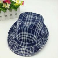 China Straw Fedora Short Broad Brimmed Hat Poly String Sweatband / Leather Belt Available wholesale