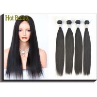 China Grade 6A Unprocessed Human Hair Weave Smooth Straight Natural Black For Girls on sale