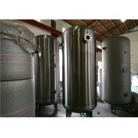 China ASME Certified Stainless Steel Air Receiver Tank Frosting Surface Treatment wholesale