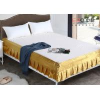 China Various Color Decorative Hotel Bed Skirts Washable With Rest Report wholesale