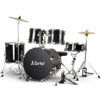 China Muse PVC Complete 5 Piece Junior Drum Set With Cymbal / Throne A525P-704 wholesale