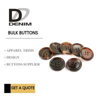 China Shiny Matt Black Brown Bulk ing Buttons Sourcing 4 Holes With Pattern Design wholesale