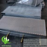 China Metal Aluminum Expanded Panel Mesh Screen Powder Coated For Facade wholesale