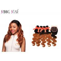 China Nonremy Body Wave Hair Extensions Human / No Tangle Natural Body Wave Weave wholesale