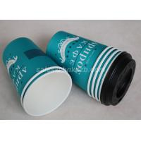 Quality Eco Friendly Paper Disposable Hot Chocolate Cups With Lids Customized Logo for sale