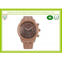 Quality Fashion Golden Business Casual Japan Movement Digital Watches With Diamond for sale