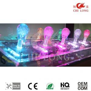 China Rgb / Single Color Crystal Led Arcade Joystick , Integrated Design Video Game Joystick on sale