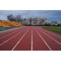 China Outdoor 400 Meter Recycled Rubber FlooringTrack With 8 Years Lifespan on sale