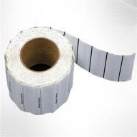 China White Woven Clothing Sew EAS Hard Tag ,  58KHz AM Label Roll on sale
