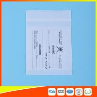 China Dust Proof Transparent Zip Lock Bag For Pill Packaging , Disposable Pill Pouches wholesale