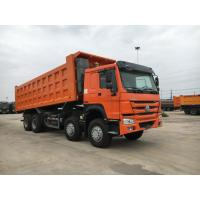 China High Loading Capacity 12 Wheeler Dump Truck With Safety Hydraulic Control System wholesale