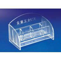 China 5mm Clear Simple Acrylic Stationery Holder For Office With Notes Box wholesale